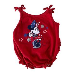 Disney Minnie Mouse Ruffle Onesie Size 0/3m